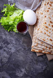 Concept of traditional Jewish celebration Passover seder Stock Photos