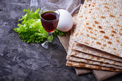 Concept of traditional Jewish celebration Passover seder Stock Photography