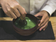 Concept traditionnel de culture de Matcha de Japonais photo stock