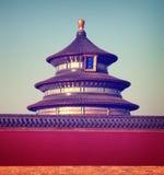 Concept traditionnel de destinations de voyage de culture de temple chinois image stock