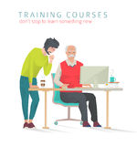 Concept of training courses for all ages. Stock Images
