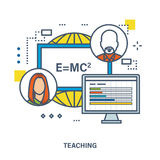 Concept of training, teaching and tutoring. Vector illustration.Can be used for banner, business data, web design, brochure template Royalty Free Stock Photography