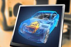Concept transparent de véhicule illustration stock