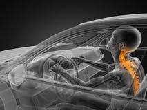 Concept transparent de véhicule avec le gestionnaire illustration libre de droits