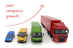 Concept transportation service growth background royalty free stock photo