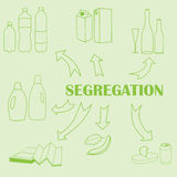 Concept of trash segregation Royalty Free Stock Image