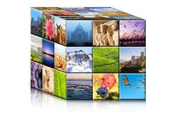 Concept travel cube. Royalty Free Stock Photo