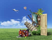 Concept of travel. Stock Images