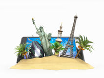 Concept of travel landmarks look Royalty Free Stock Images
