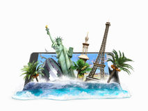 Concept of travel, landmarks look out for the Royalty Free Stock Photos