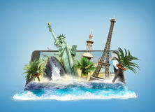 Concept of travel, landmarks look out for the Stock Photography