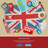 Concept of travel or studying English. Royalty Free Stock Photos