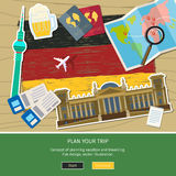 Concept of travel or studying German. Stock Image