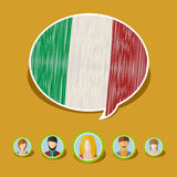 Concept of travel or studying Italian. Royalty Free Stock Photos