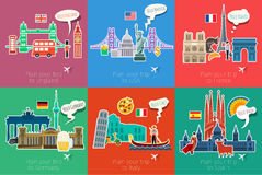 Concept of travel or studying languages. Stock Images
