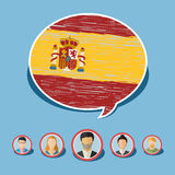 Concept of travel or studying Spanish. Stock Image