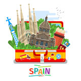 Concept of travel or studying Spanish. Stock Photo