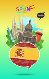 Concept of travel or studying Spanish. vector illustration