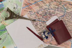 The concept of travel and tourism. Copy space. Top view Stock Photos