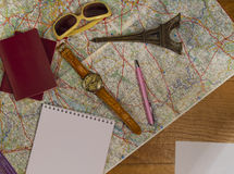 The concept of travel and tourism. Copy space. Top view Stock Photography