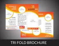 Concept triple abstrait de brochure illustration stock