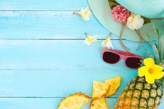 Concept of tropical fruit. Royalty Free Stock Photos