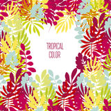 Concept tropical leaves vector illustration Royalty Free Stock Images