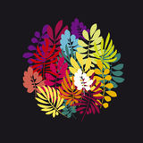 Concept tropical leaves vector illustration Stock Image