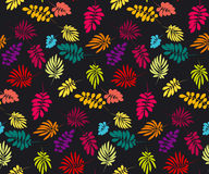 Concept tropical leaves vector illustration Royalty Free Stock Photo