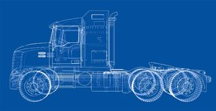 Concept truck. Vector rendering of 3d Royalty Free Stock Photography