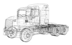 Concept truck. Vector rendering of 3d Royalty Free Stock Images