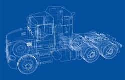Concept truck. Vector rendering of 3d Royalty Free Stock Photos