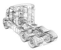 Concept truck. Vector rendering of 3d Stock Image