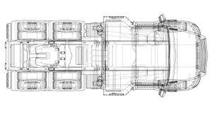 Concept truck. Vector rendering of 3d Stock Photography