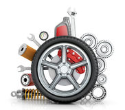 The concept of truck wheels Royalty Free Stock Photos