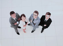 Concept of trust:successful business team is standing in the mid Stock Photo