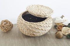 Concept turc Turquie de thé de panier Image stock