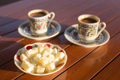 Concept of turkish  coffee accessories Royalty Free Stock Photography