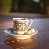 Concept of turkish  coffee accessories Royalty Free Stock Images
