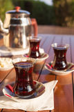 Concept of turkish tea accessories Royalty Free Stock Photo