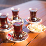 Concept of turkish tea accessories Royalty Free Stock Image