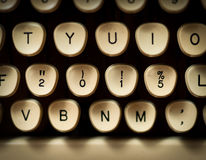 2015 concept. In typewriter keys Stock Images
