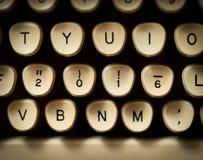 2016 concept. On typewriter keys Royalty Free Stock Image