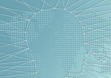 Concept uitdagingen voor mensen in een wereld van globalisering stock illustratie