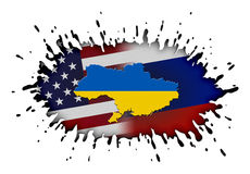 Concept of Ukraine crisis Royalty Free Stock Images