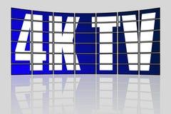 Concept ultra élevé de la définition 4K TV Photographie stock libre de droits