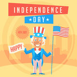 Concept Uncle Sam and Independence Day 2 Stock Photography