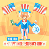 Concept Uncle Sam and Independence Day 2 Stock Photos