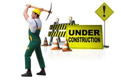 The concept of under construction for your webpage Stock Image