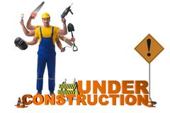 The concept of under construction for your webpage Royalty Free Stock Images